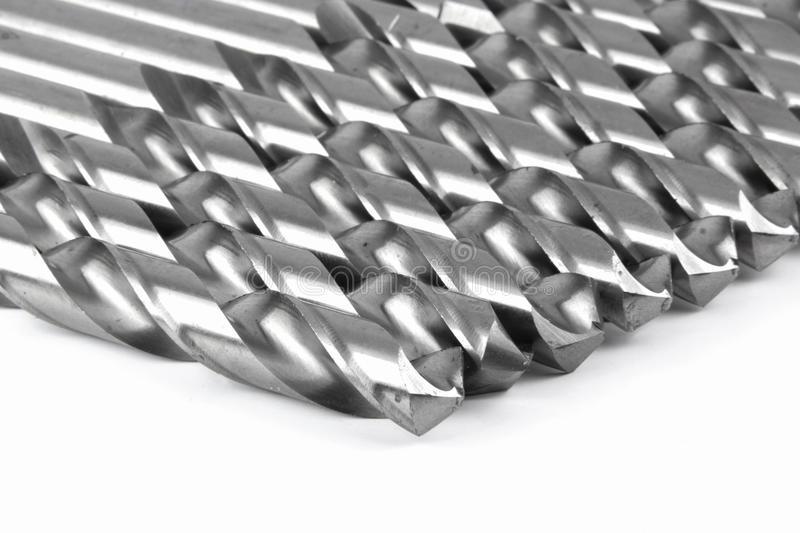 Drill bits for steel,wood royalty free stock image