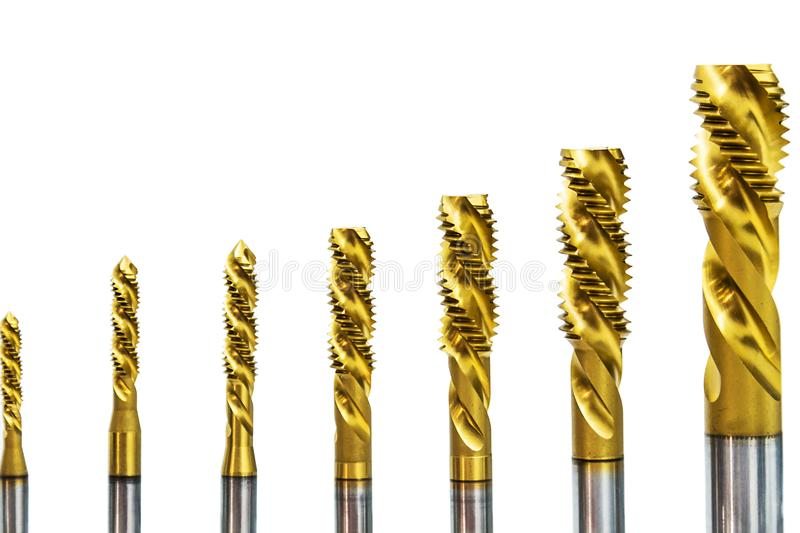 Drill Bits In Various Sizes On The Drill Bit Crack For Metalworking