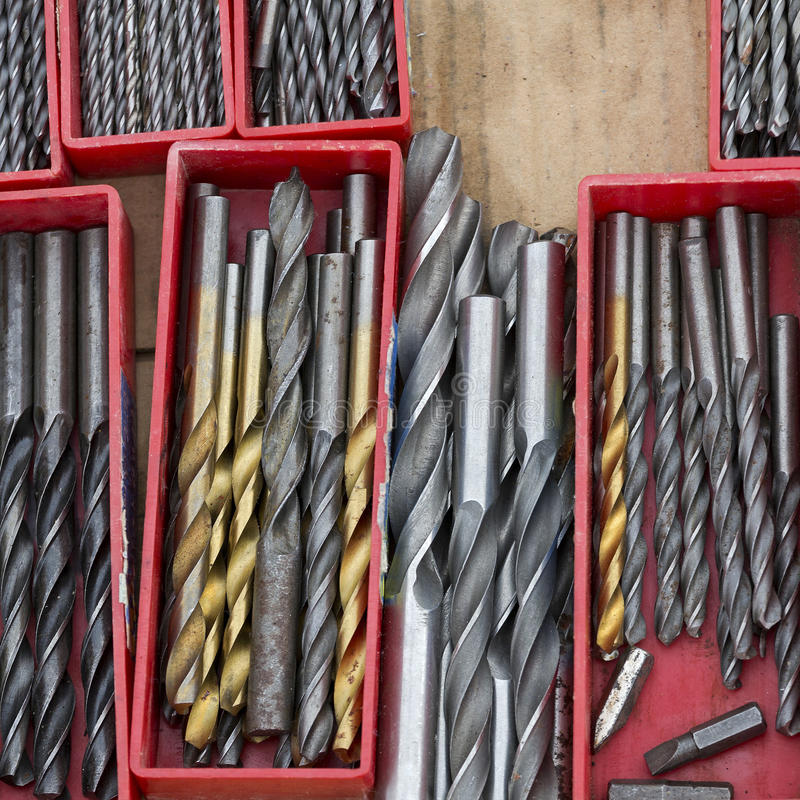 Drill bits stock images