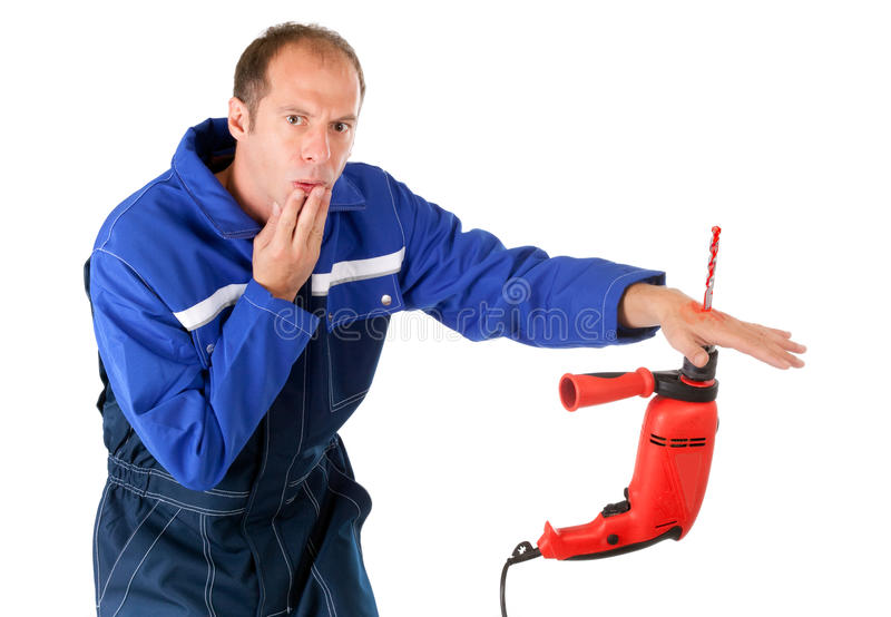 Download Drill injury stock photo. Image of male, appliance, drill - 11387166