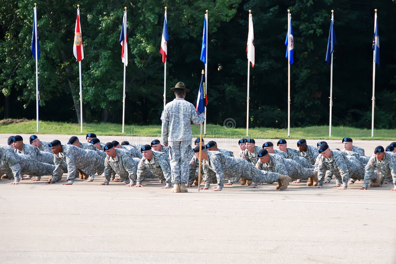 Download Drill Instructor Orders Push-ups Editorial Stock Photo - Image: 5473053