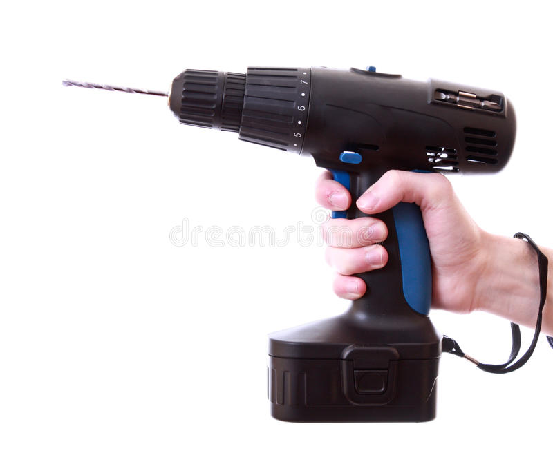 Drill isolated royalty free stock photography