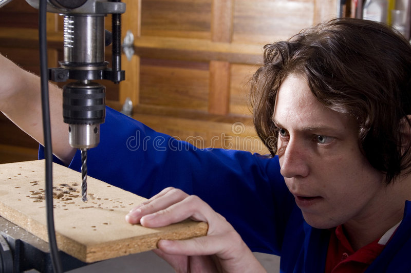 Drill machine level stock photos