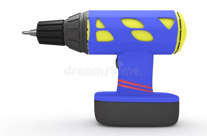 Drill over white vector illustration