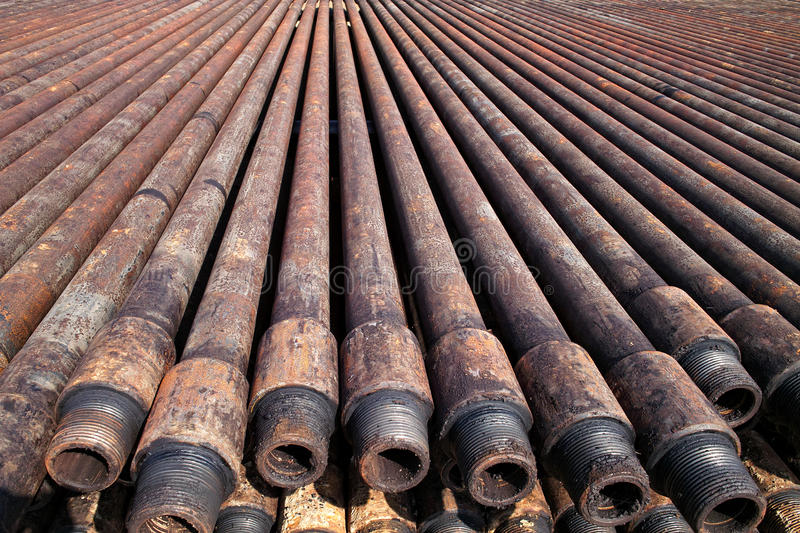 Drill pipe stock photography