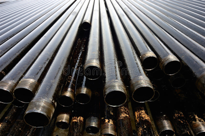 Drill pipes stock images