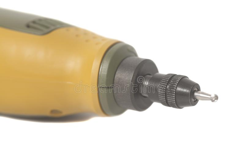 Drill rotary tool. Isolated on a white background royalty free stock image