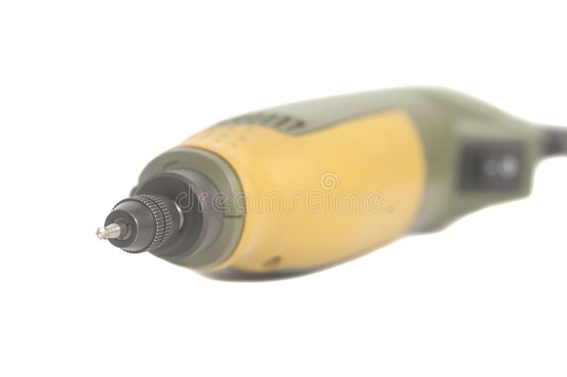Drill rotary tool. Isolated on a white background stock photo