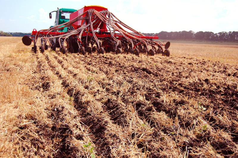 Download Drill seeds by No-till stock photo. Image of agriculture - 15524260