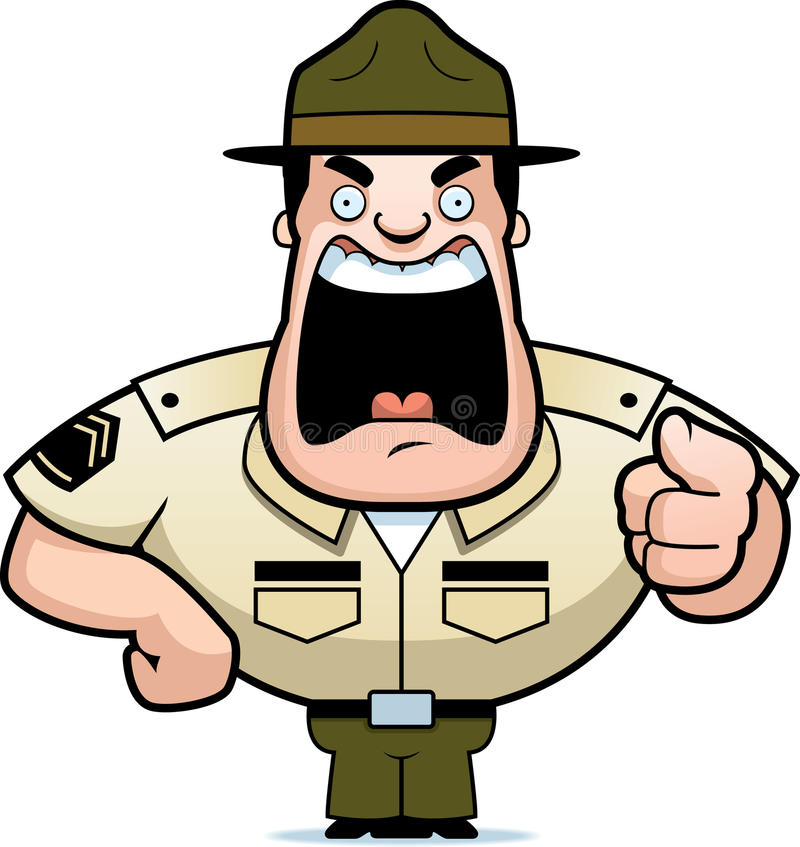 Download Drill Sergeant stock vector. Illustration of camp, training - 9545774