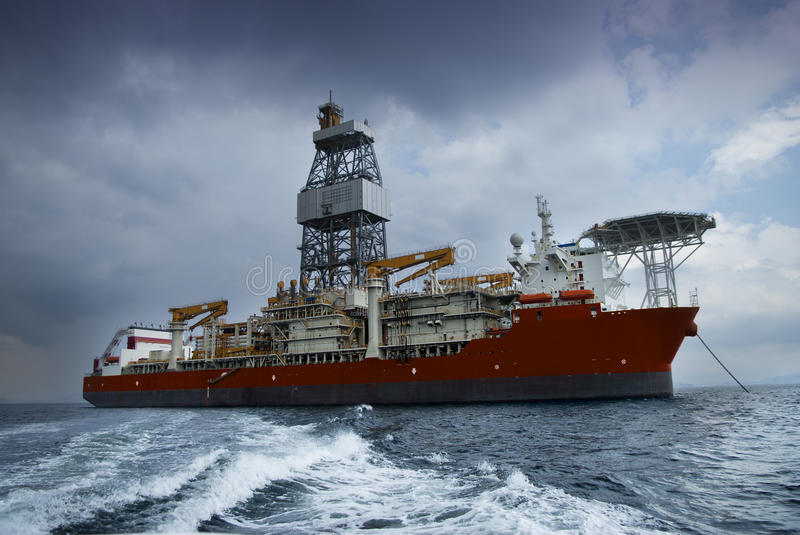 Drill Ship Royalty Free Stock Images