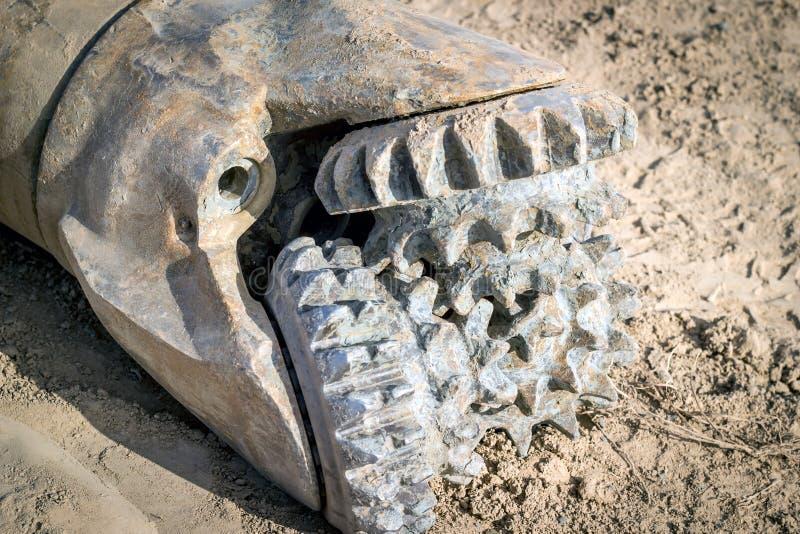 Drilling bit. Drilling bit for drilling wells in rocks of medium hardness royalty free stock image