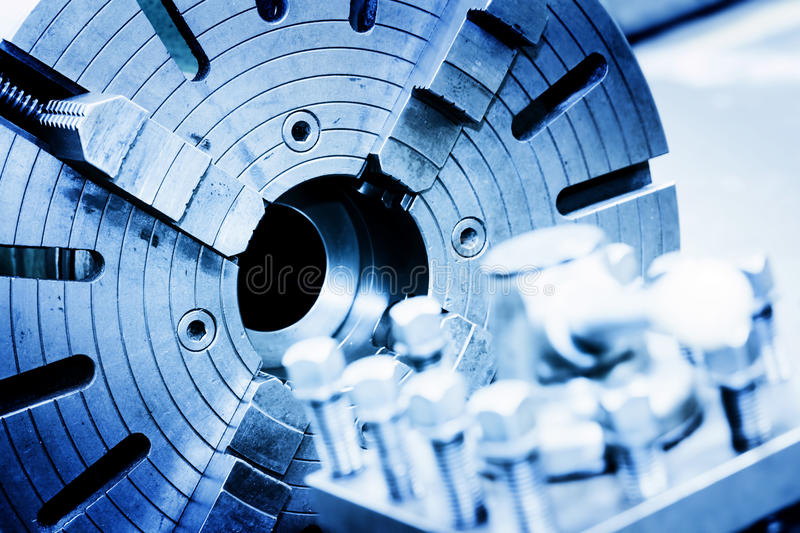 Drilling, boring and milling machine in workshop. Industry. Industrial concept royalty free stock photography