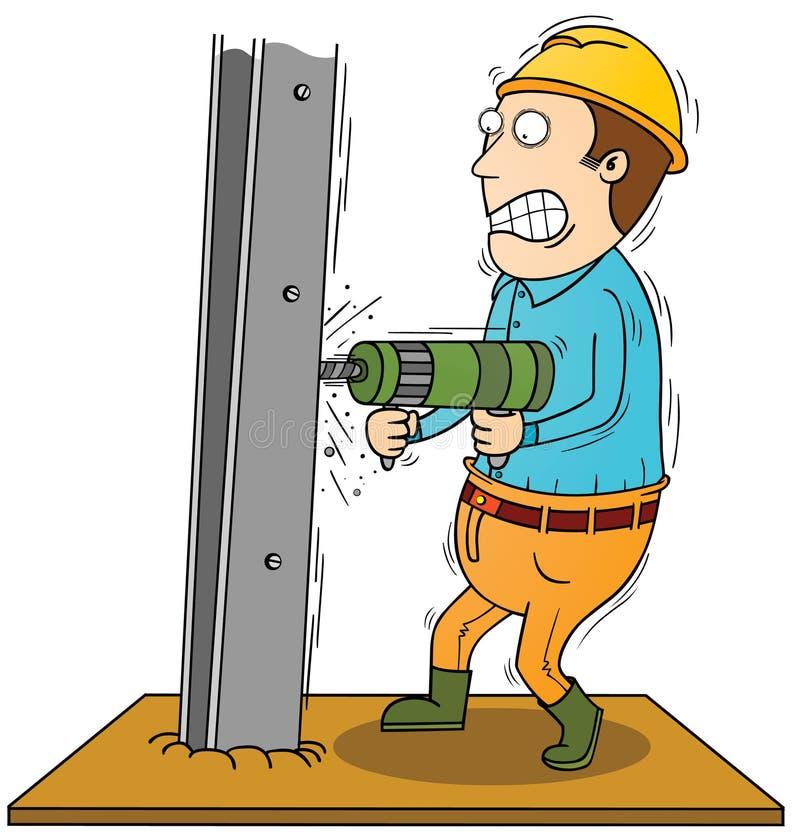Drilling iron bar. Illustration of a drilling iron bar royalty free illustration