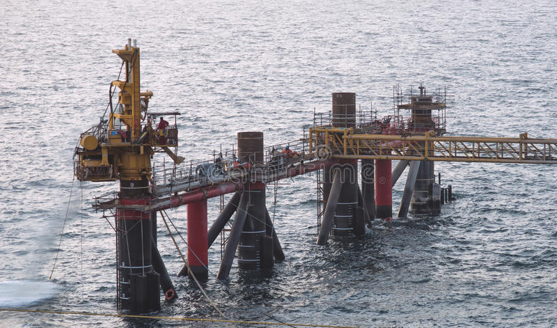 Drilling jacket leg offshore stock photos
