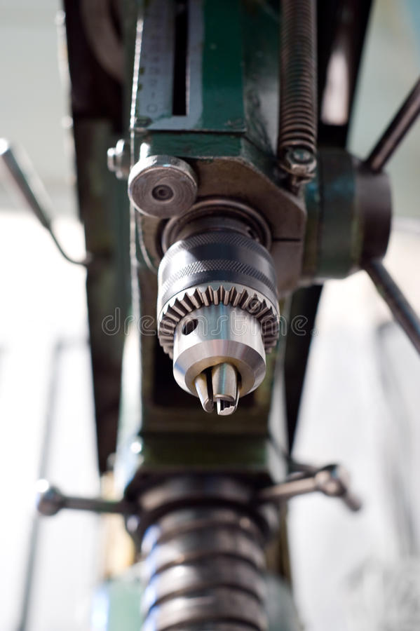 Drilling machine. An old drilling machine, of last century stock photos