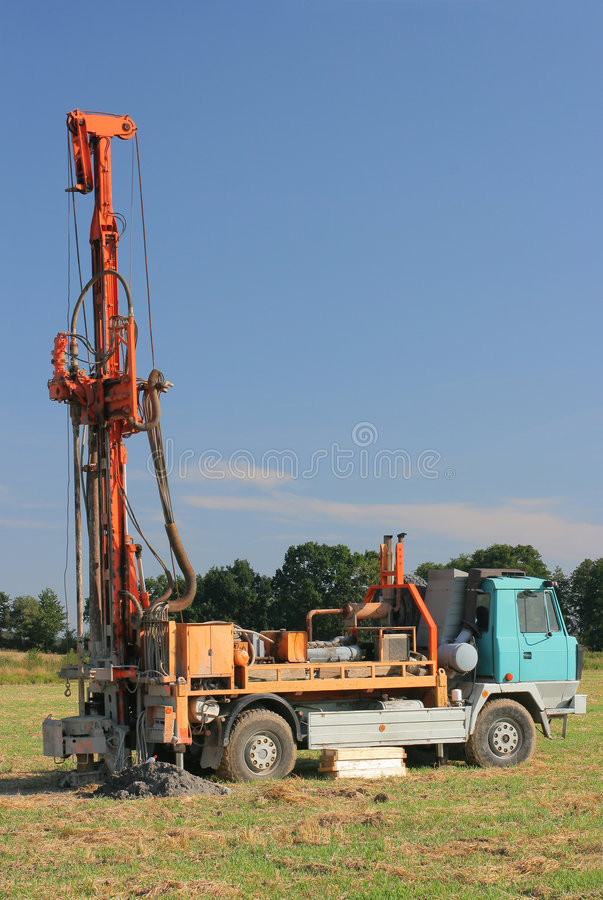 Drilling machine 2. Drilling machine industries construction transportation royalty free stock image