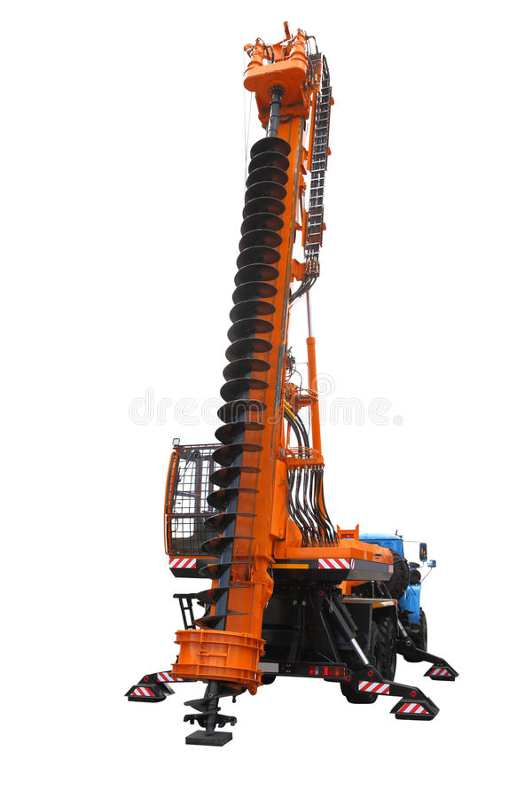Drilling machine. The image of a drilling machine under the white background stock photos