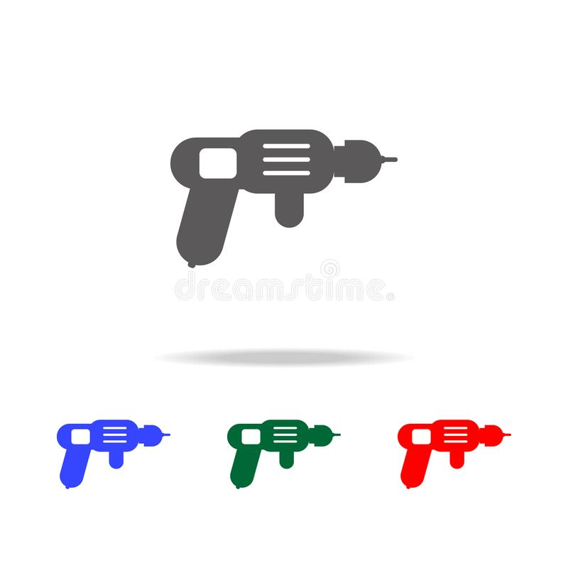 Drilling machine - perforator icon. Elements of construction tools multi colored icons. Premium quality graphic design icon. Simpl. E icon for websites, web stock photography