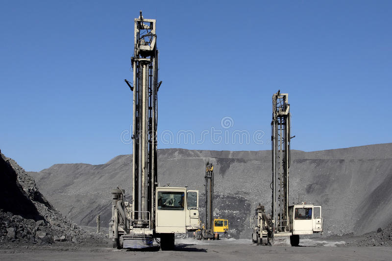 Drilling machines royalty free stock photos