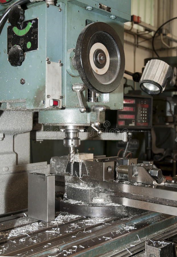 Download Drilling And Milling CNC In Workshop Royalty Free Stock Photos - Image: 15054778