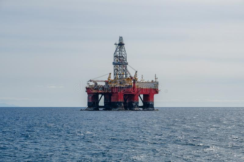 Drilling platfom , oil rig , offshore drill platform.  royalty free stock photo