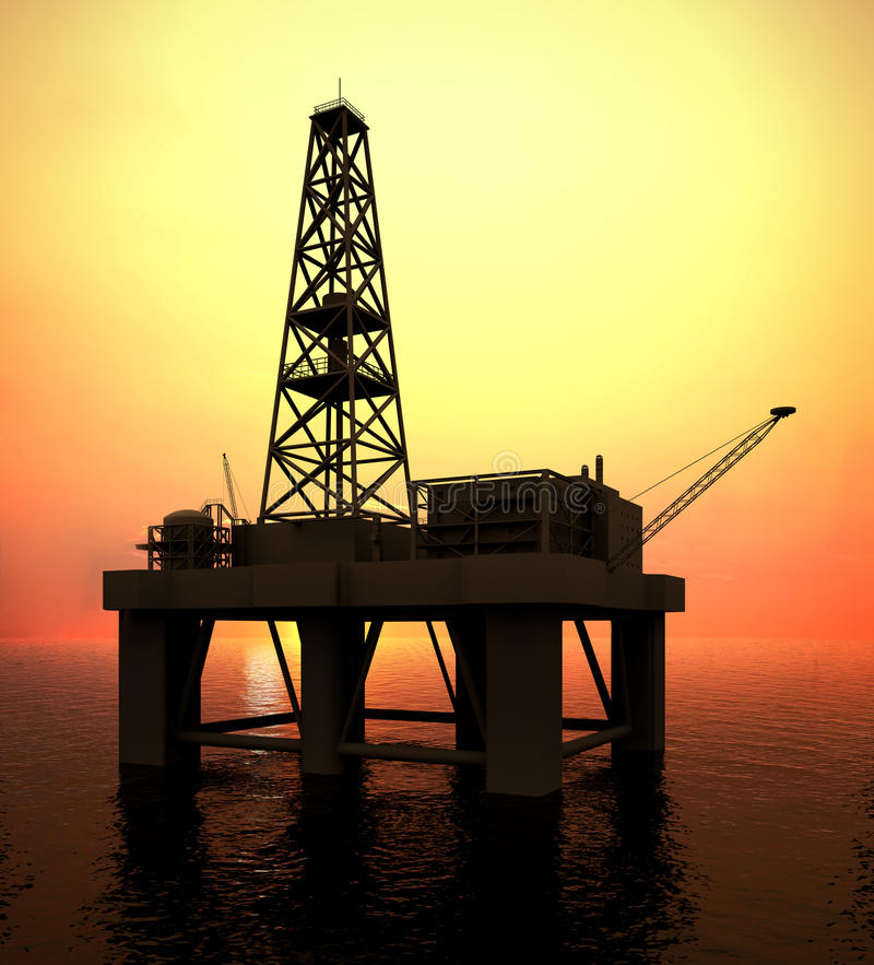 Drilling Platform. In sea (see more in my portfolio vector illustration