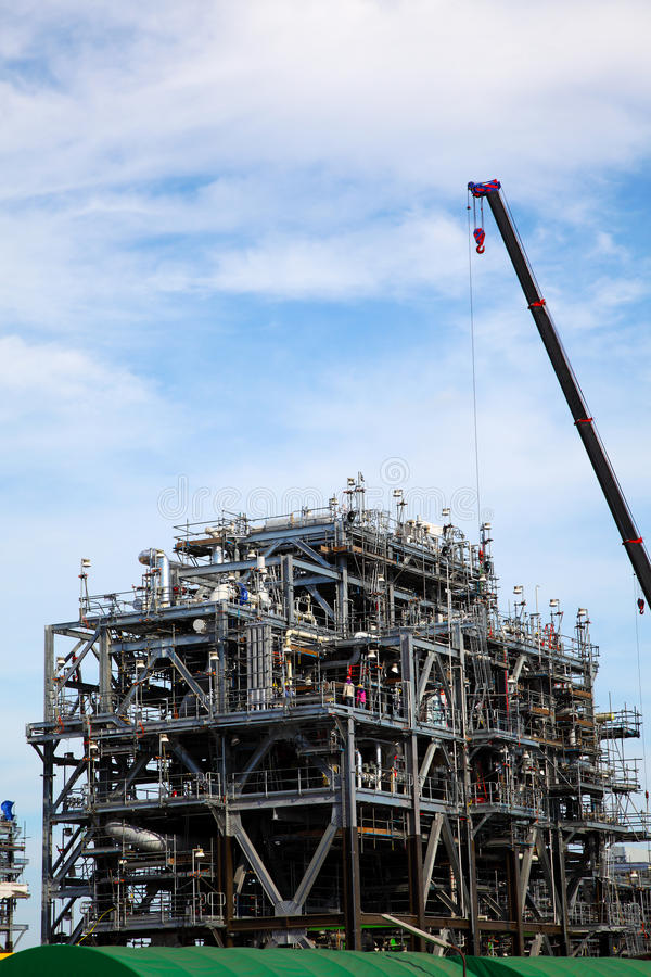 Drilling Platform under Construction royalty free stock image