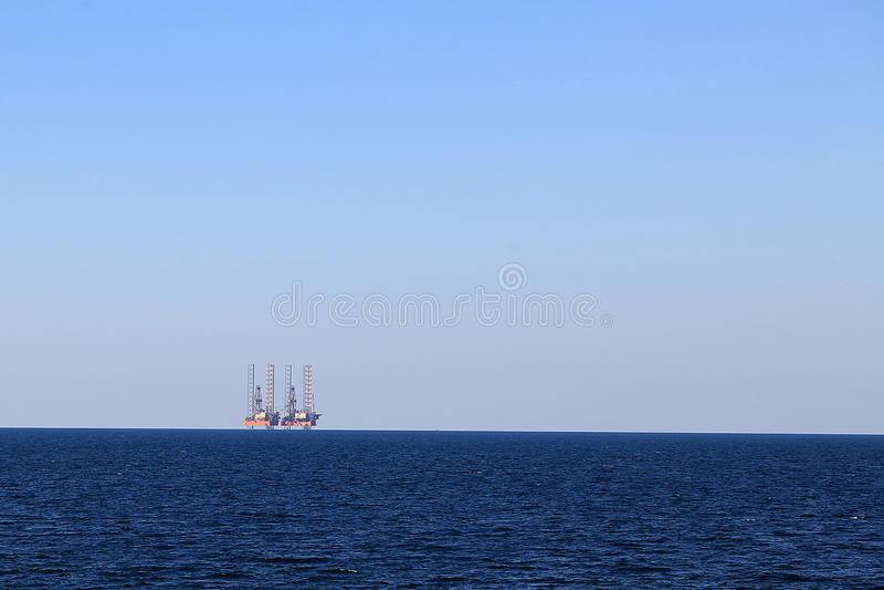 Drilling platforms at sea stock photos