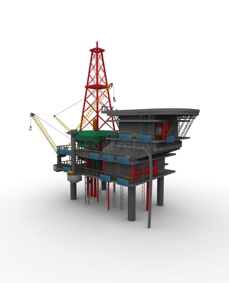 Drilling Rig vector illustration