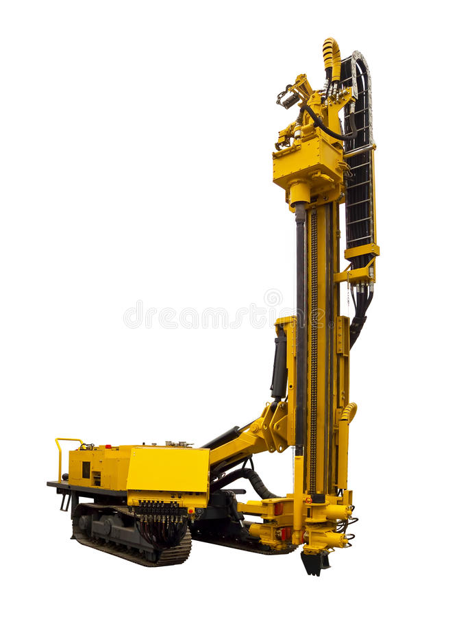 Drilling Rig. On a white background stock photos