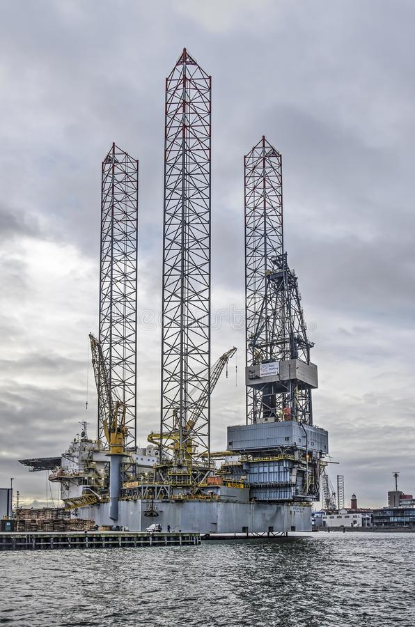 Drilling Vessel Dina Polaris Docked In New Bedford Editorial
