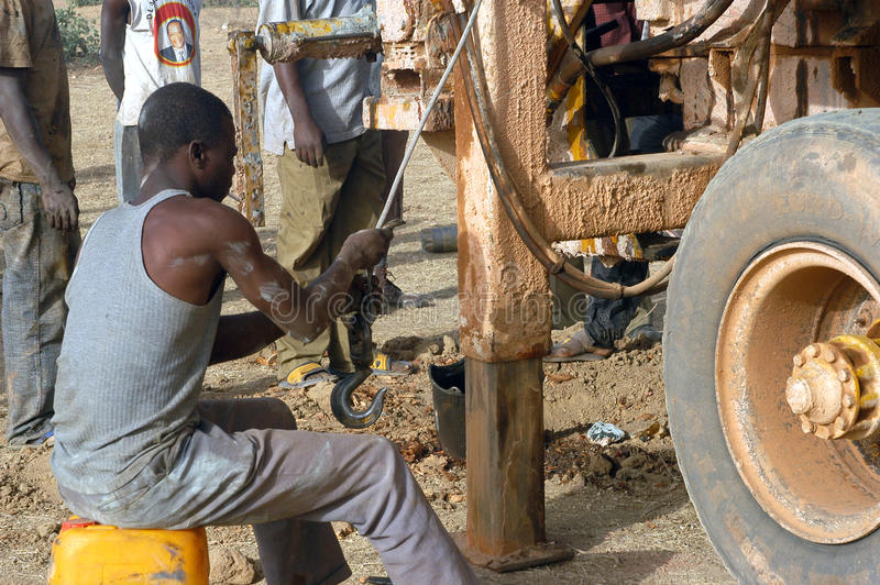 Download Drilling Of A Well In Burkina Faso Faso Editorial Stock Photo - Image: 23934828
