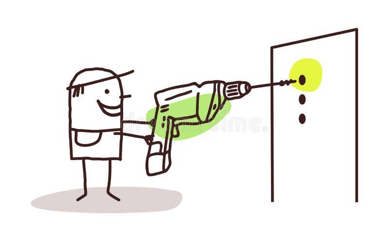 Drilling worker. Cartoon drilling worker illustration vector illustration