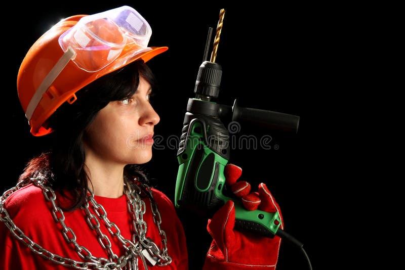 drillkvinnabarn fotografering för bildbyråer