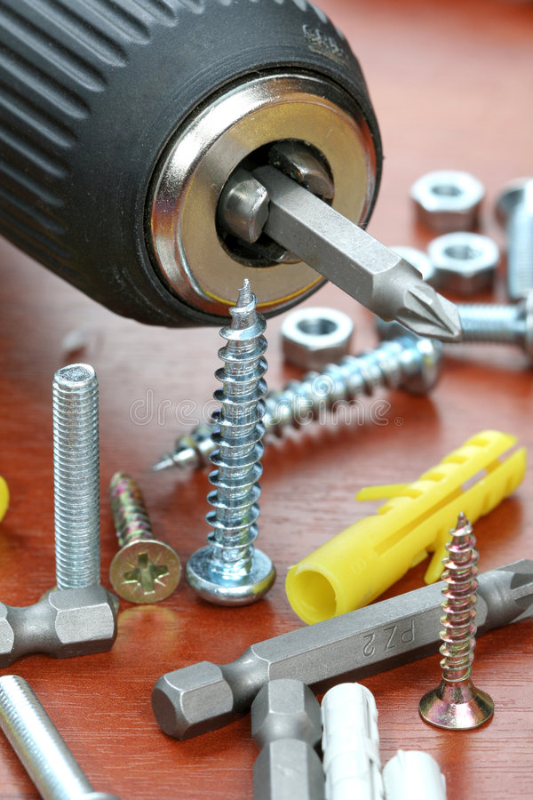 Free Drills, Screws & Plugs Royalty Free Stock Photo - 3952185