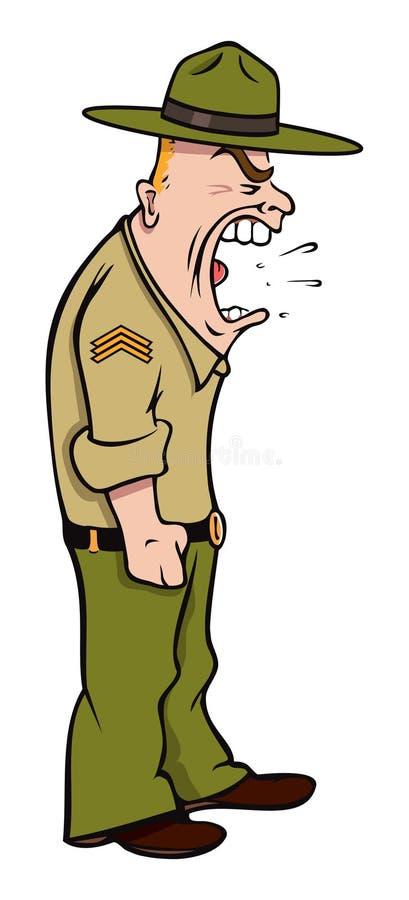 drillsergeant stock illustrationer