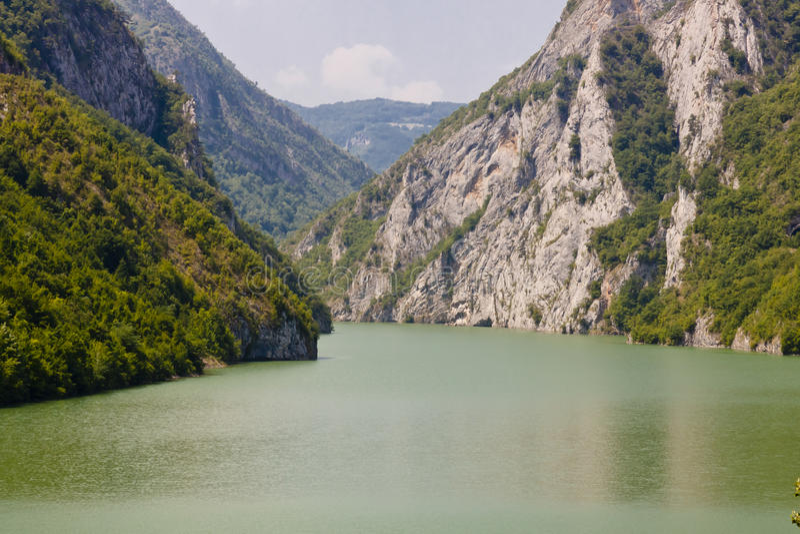 Drina河-波斯尼亚和黑塞哥维那 免版税库存照片