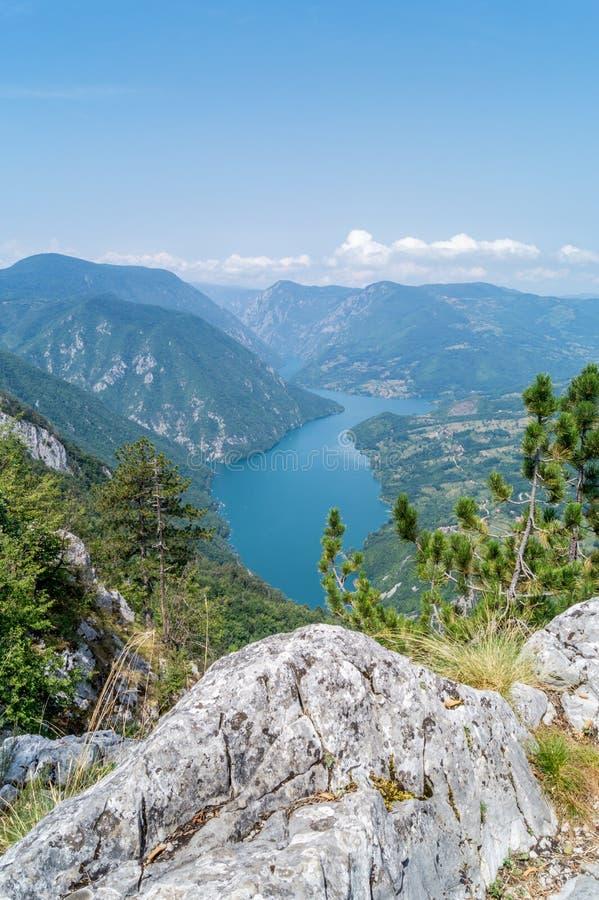 Drina River Canyon stock photo