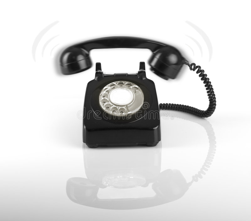 Dring... Dring... A telephone, someone is calling stock image