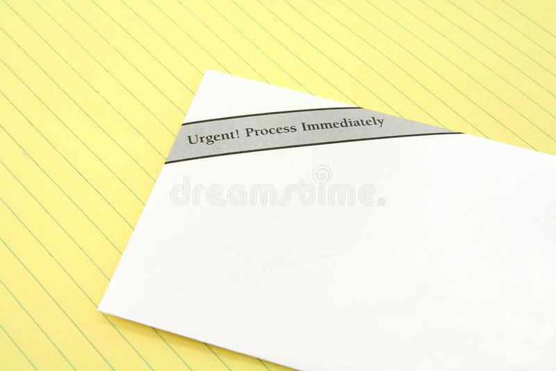 Dringende post stock afbeelding