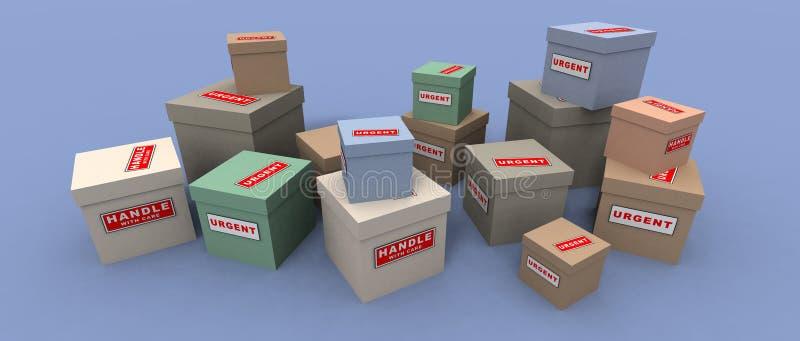 Dringende Und Empfindliche Pakete Lizenzfreies Stockfoto