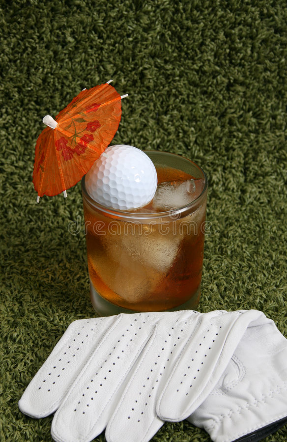 Drink at the 19th Hole royalty free stock images