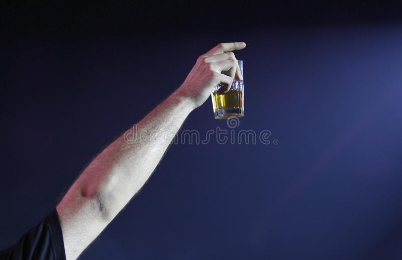 Drink alcohol in the club royalty free stock photos