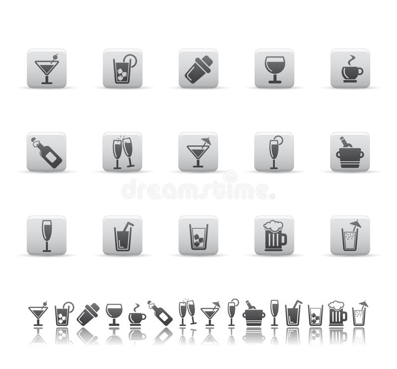 Download Drink and bar icons. stock vector. Illustration of ornament - 9837369