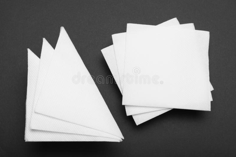 Drink bar serviette paper napkin mockup.  royalty free stock photos