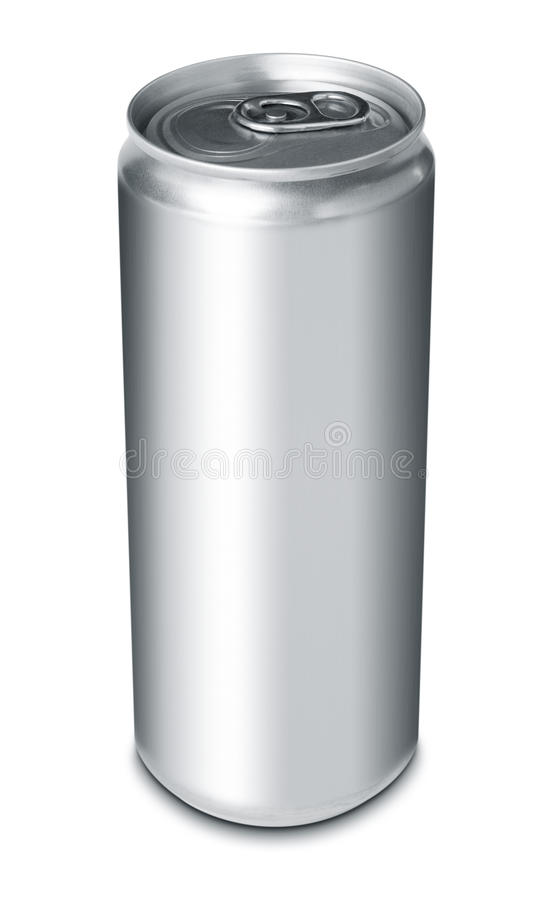 Drink can from blank aluminum stock images