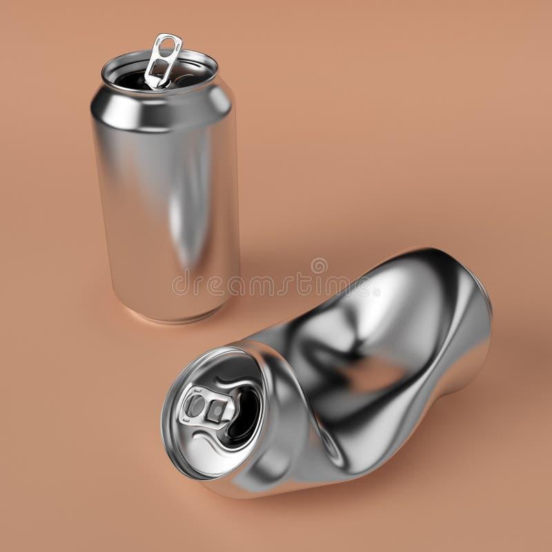 Drink can deformed vector illustration