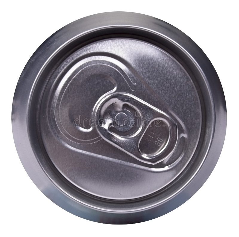 Drink can - top side stock photo