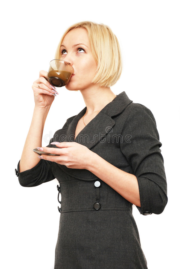 Download Drink coffee stock photo. Image of drink, women, rest - 8693184